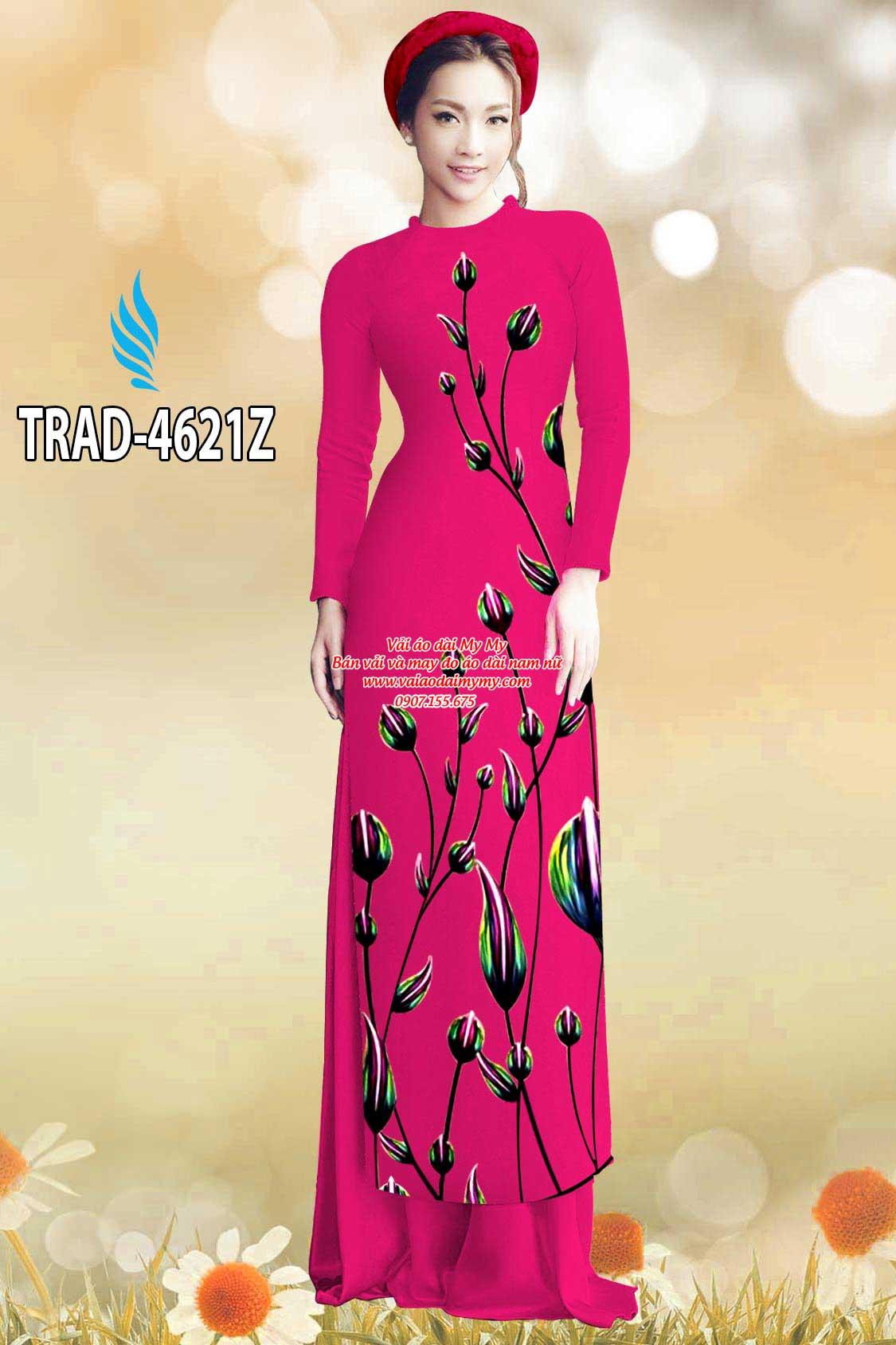 Vải áo dài búp hoa AD TRAD 4621 23