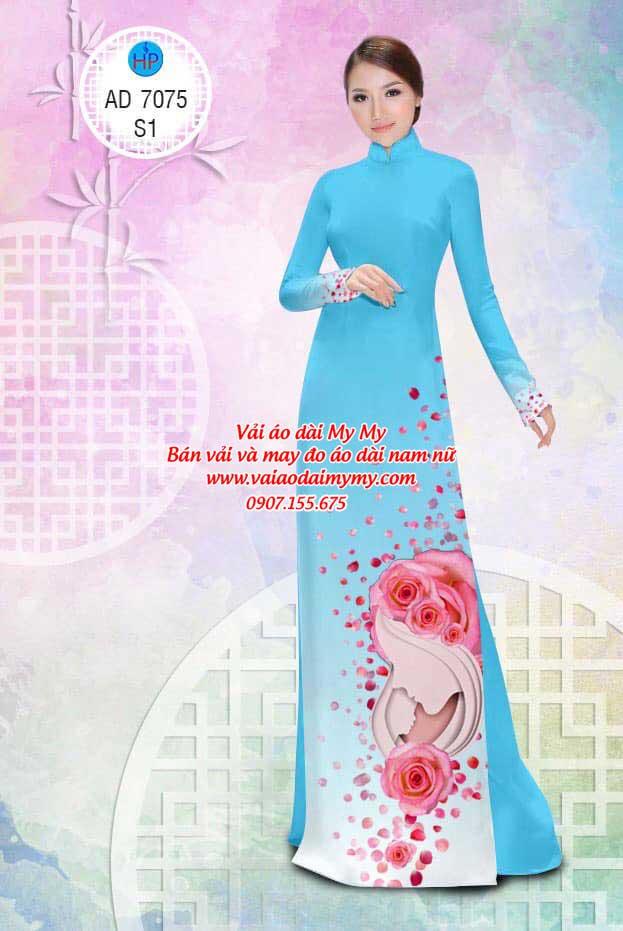 Vải áo dài Valentine 14/2 AD 7075 2