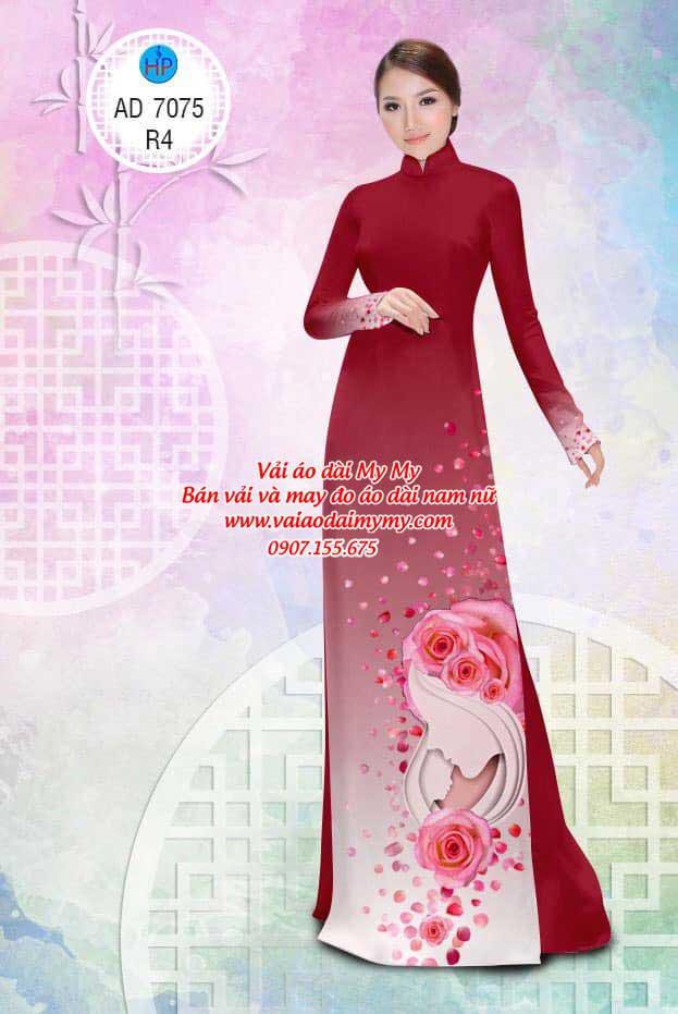 Vải áo dài Valentine 14/2 AD 7075 3