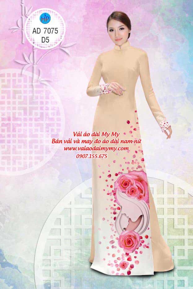 Vải áo dài Valentine 14/2 AD 7075 9