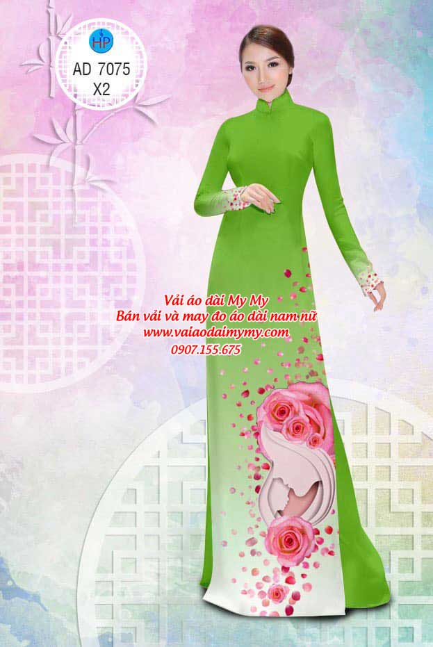 Vải áo dài Valentine 14/2 AD 7075 18