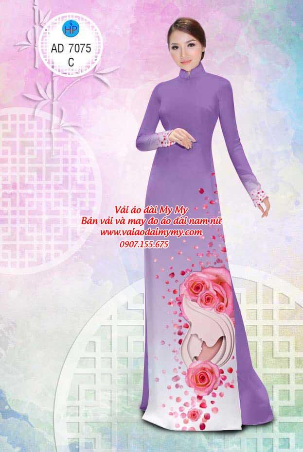 Vải áo dài Valentine 14/2 AD 7075 17
