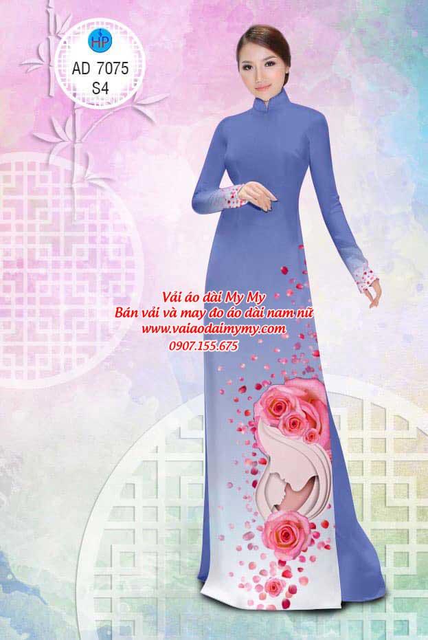 Vải áo dài Valentine 14/2 AD 7075 15
