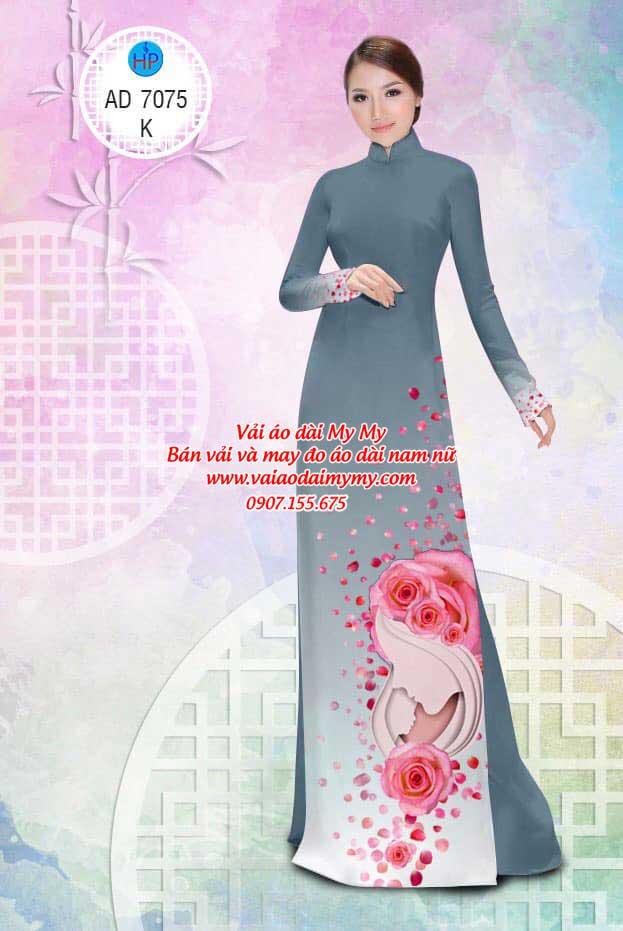 Vải áo dài Valentine 14/2 AD 7075 14