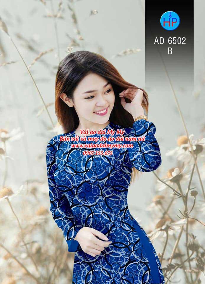 Vải áo dài Vòng tròn đan xen AD 6502 5