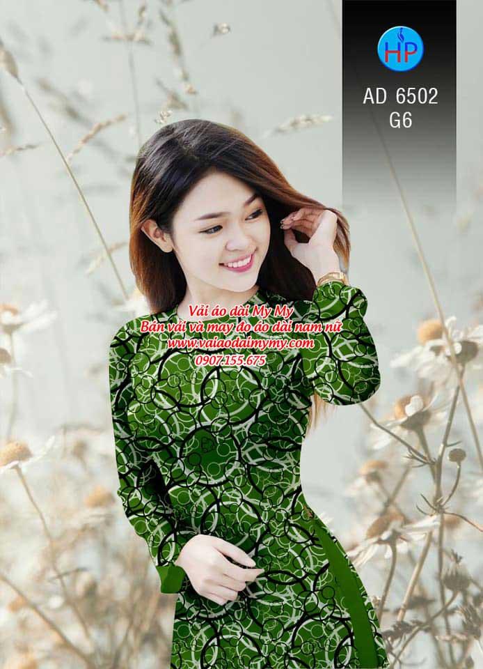 Vải áo dài Vòng tròn đan xen AD 6502 2