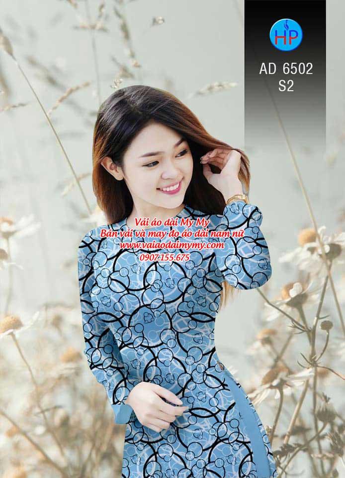 Vải áo dài Vòng tròn đan xen AD 6502 13