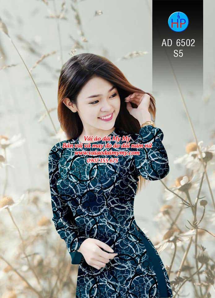 Vải áo dài Vòng tròn đan xen AD 6502 11