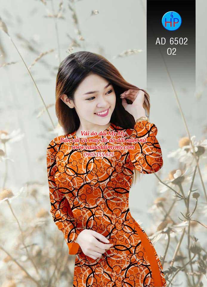 Vải áo dài Vòng tròn đan xen AD 6502 8
