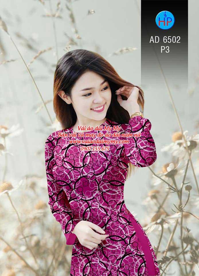 Vải áo dài Vòng tròn đan xen AD 6502 7