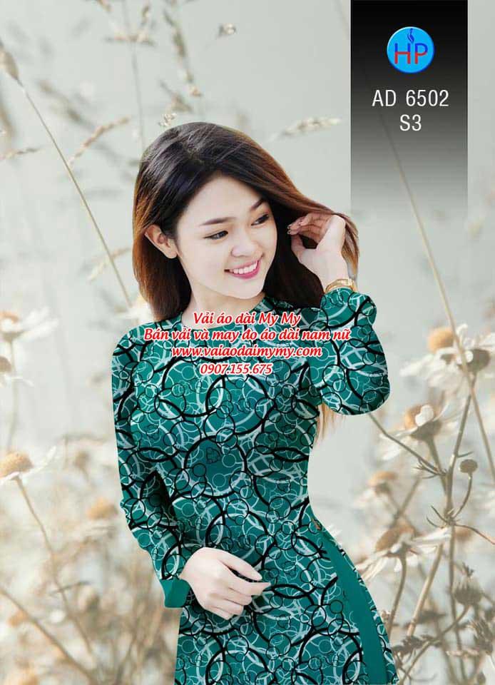 Vải áo dài Vòng tròn đan xen AD 6502 12