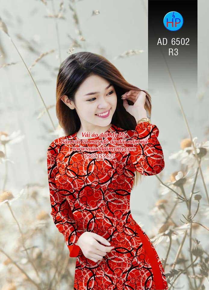 Vải áo dài Vòng tròn đan xen AD 6502 14