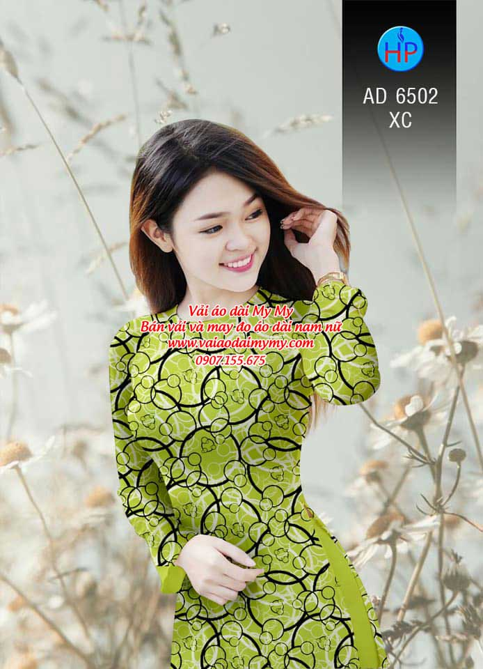 Vải áo dài Vòng tròn đan xen AD 6502 16