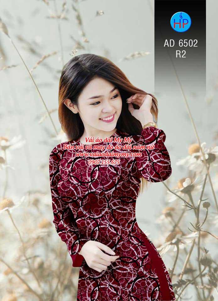 Vải áo dài Vòng tròn đan xen AD 6502 15