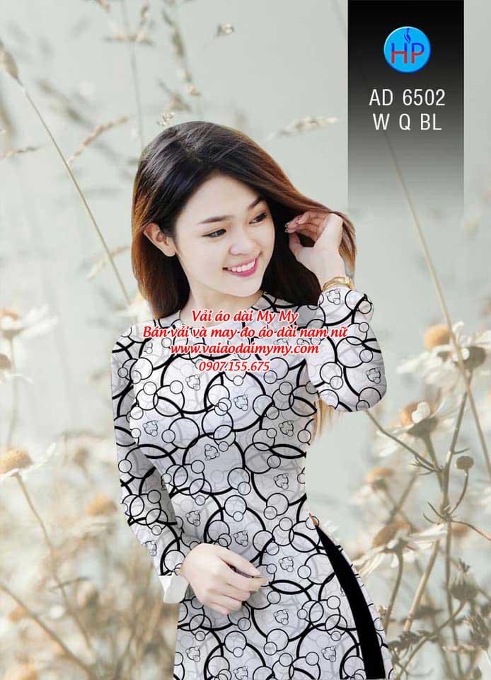 Vải áo dài Vòng tròn đan xen AD 6502 18