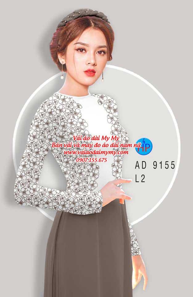 Vải áo dài Hoa in 3D AD 9155 5