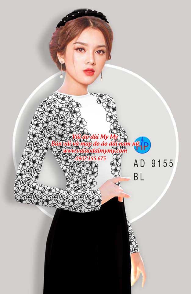 Vải áo dài Hoa in 3D AD 9155 4