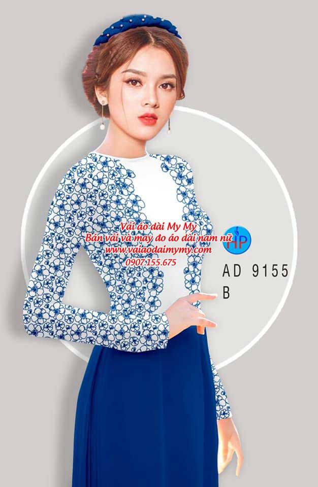 Vải áo dài Hoa in 3D AD 9155 3