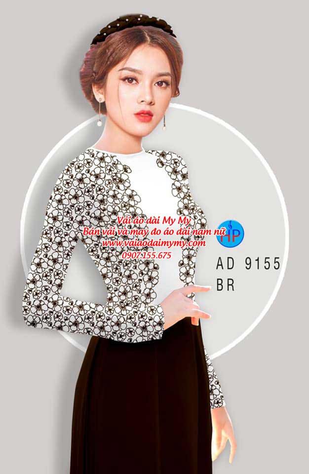 Vải áo dài Hoa in 3D AD 9155 1