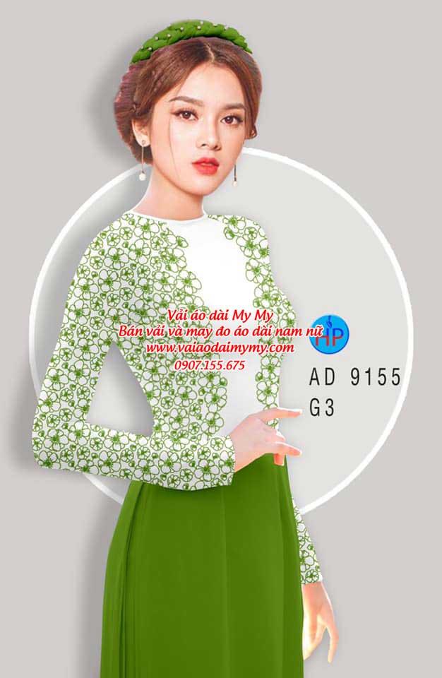 Vải áo dài Hoa in 3D AD 9155 6