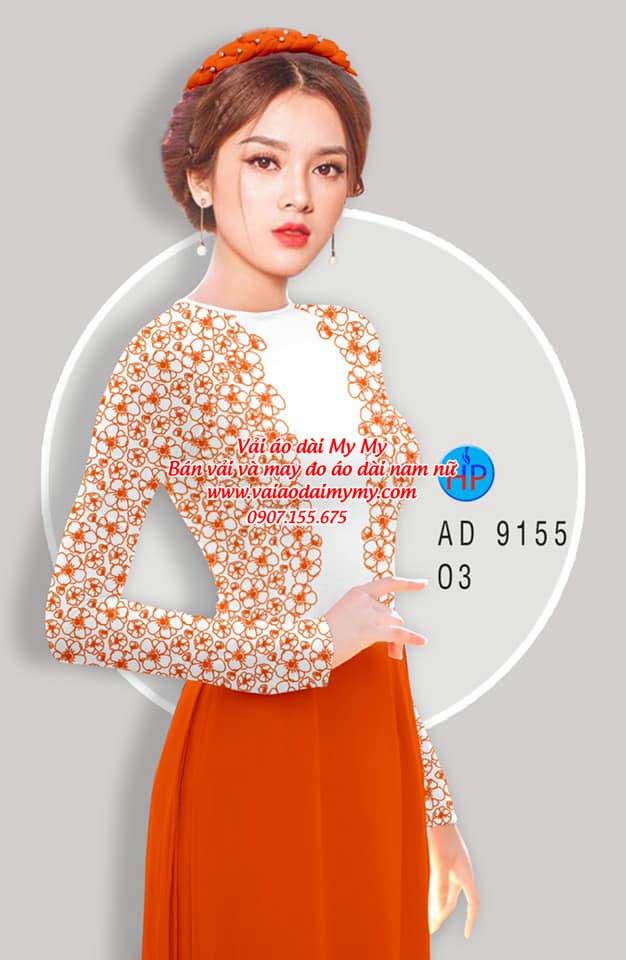 Vải áo dài Hoa in 3D AD 9155 9