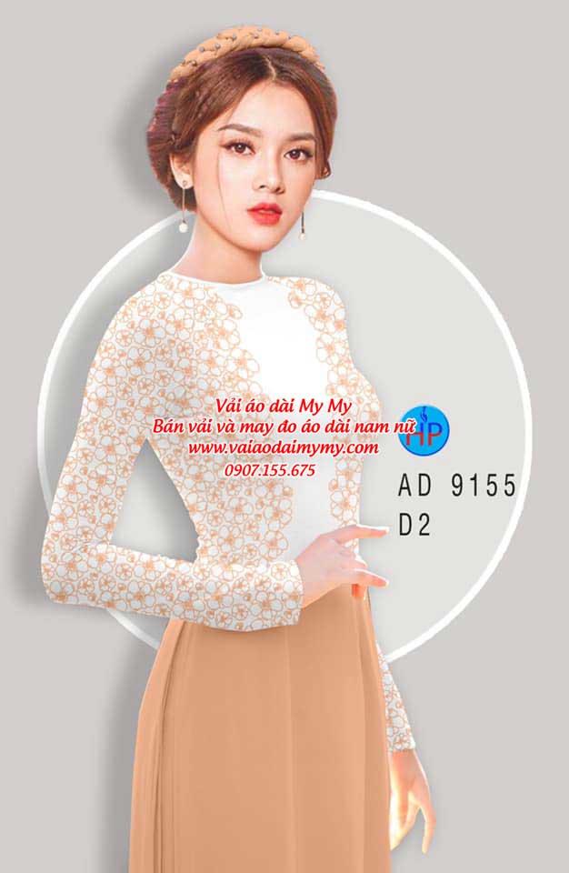 Vải áo dài Hoa in 3D AD 9155 7