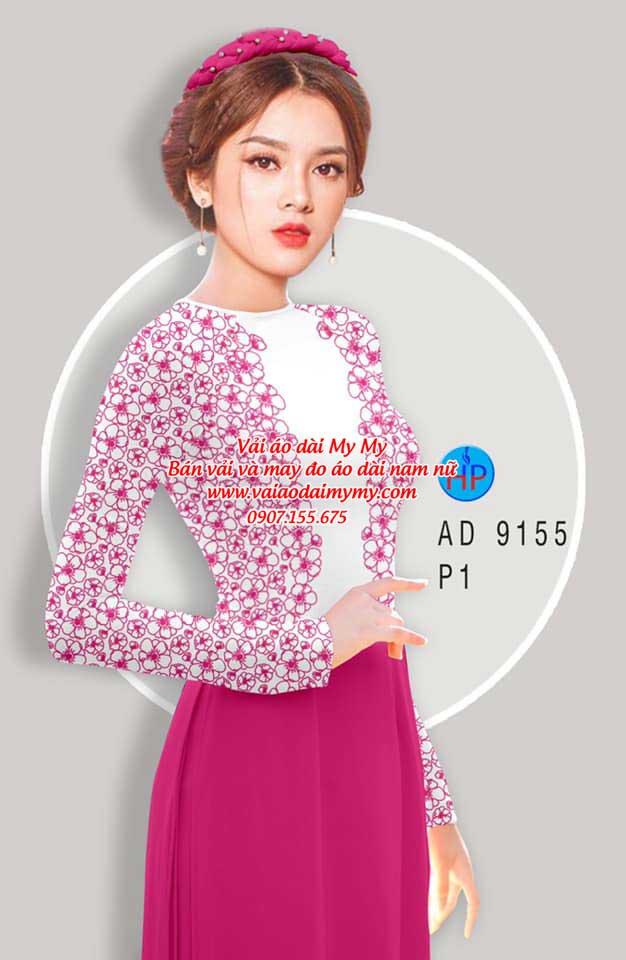 Vải áo dài Hoa in 3D AD 9155 10