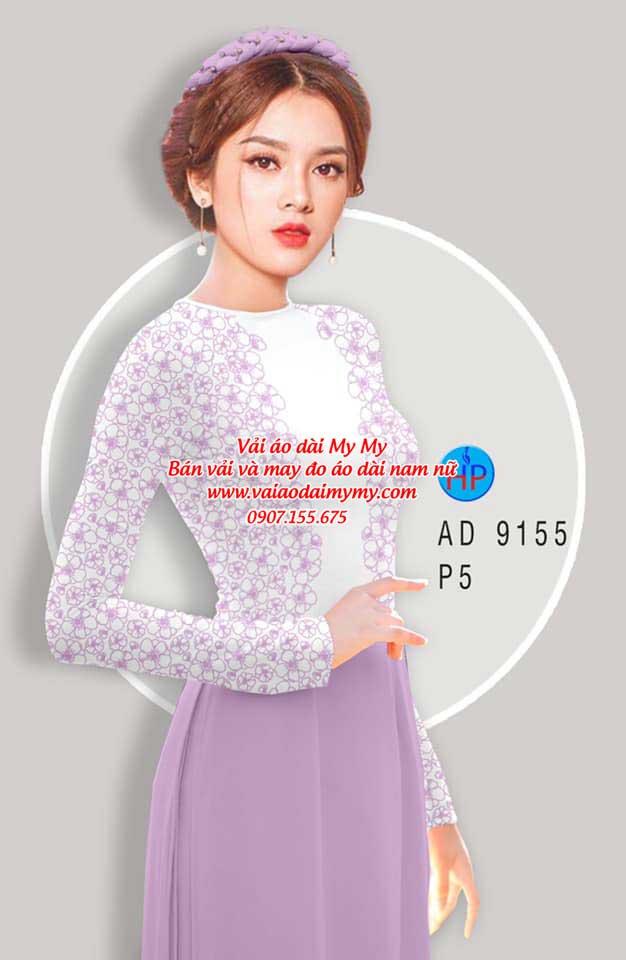 Vải áo dài Hoa in 3D AD 9155 8