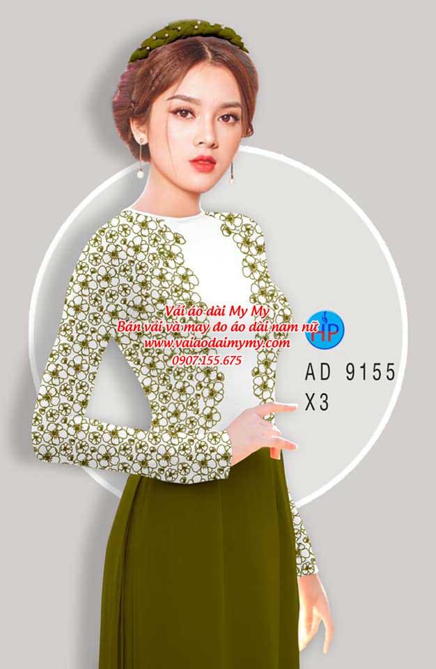 Vải áo dài Hoa in 3D AD 9155 11