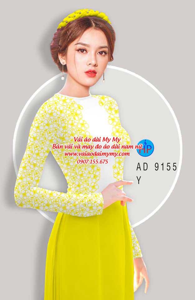 Vải áo dài Hoa in 3D AD 9155 18