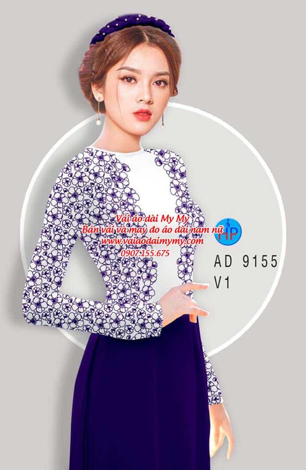 Vải áo dài Hoa in 3D AD 9155 13