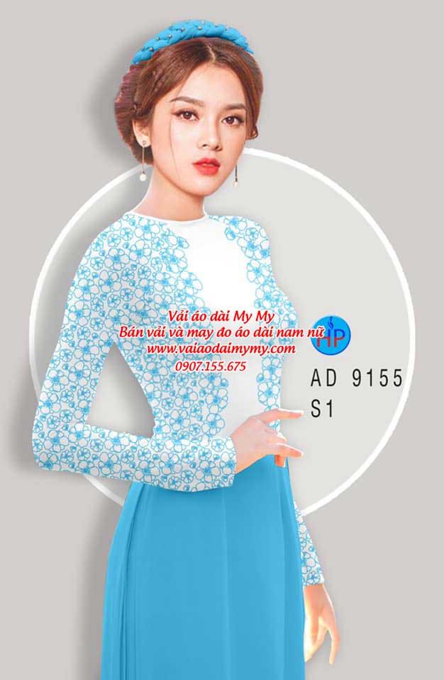 Vải áo dài Hoa in 3D AD 9155 16