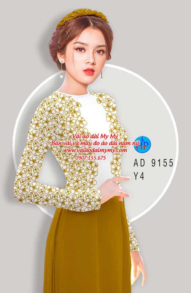 Vải áo dài Hoa in 3D AD 9155 17