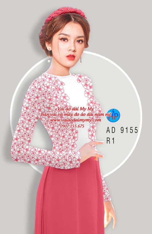 Vải áo dài Hoa in 3D AD 9155 15