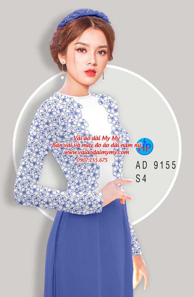 Vải áo dài Hoa in 3D AD 9155 14