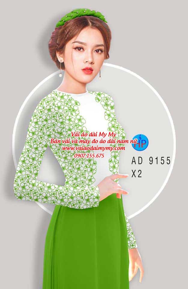 Vải áo dài Hoa in 3D AD 9155 12