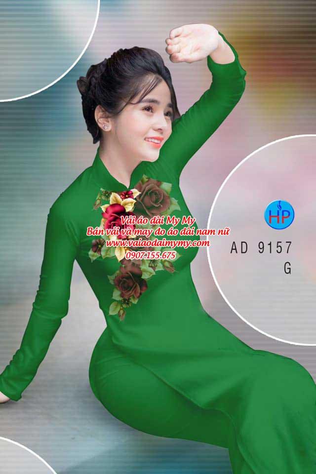 Vải áo dài Hoa Hồng 8/3 AD 9157 4