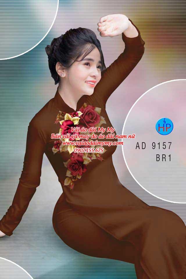 Vải áo dài Hoa Hồng 8/3 AD 9157 2