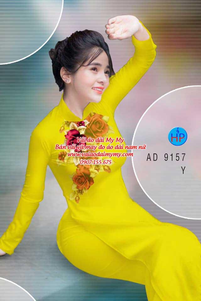 Vải áo dài Hoa Hồng 8/3 AD 9157 5
