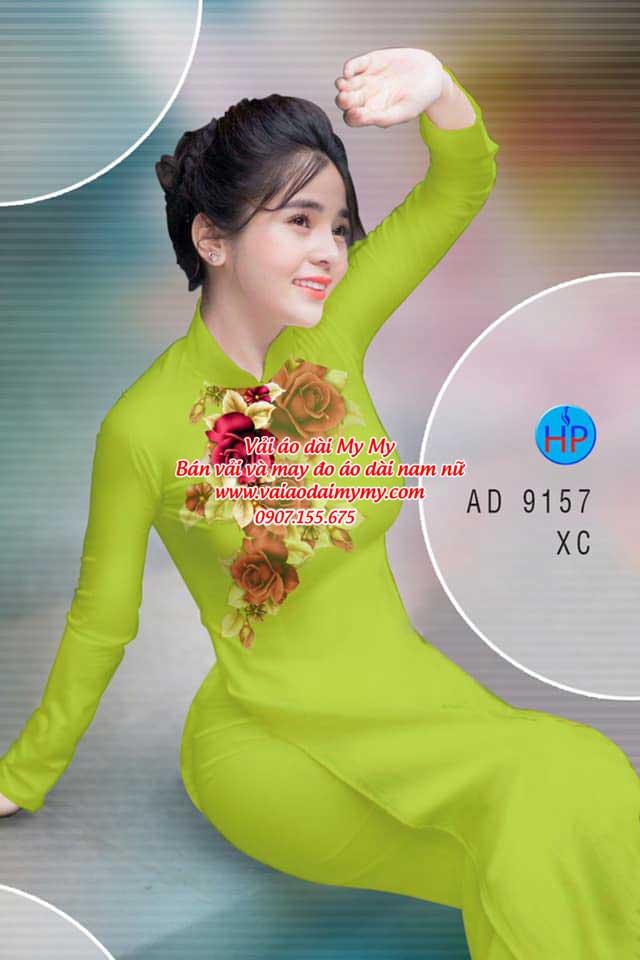 Vải áo dài Hoa Hồng 8/3 AD 9157 8