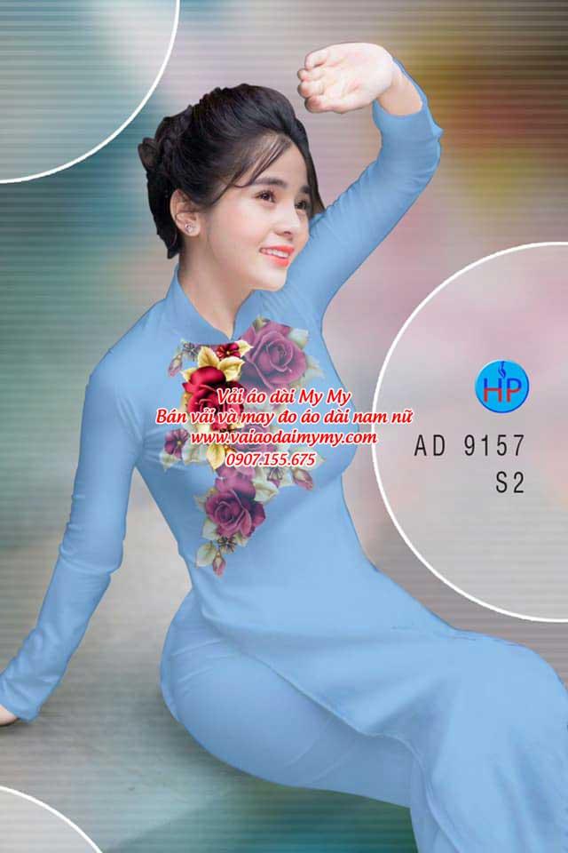 Vải áo dài Hoa Hồng 8/3 AD 9157 17