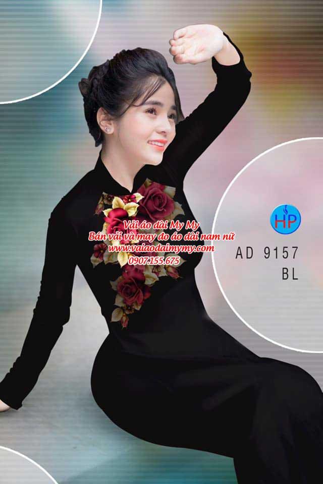Vải áo dài Hoa Hồng 8/3 AD 9157 11