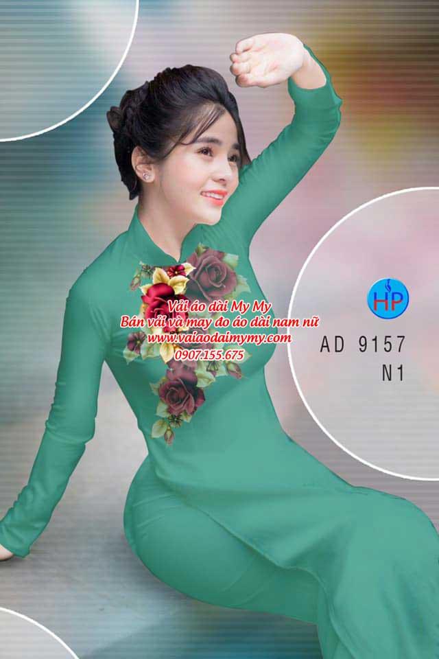 Vải áo dài Hoa Hồng 8/3 AD 9157 16