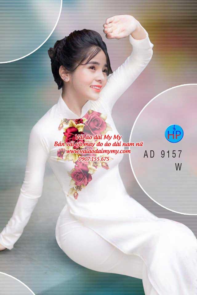 Vải áo dài Hoa Hồng 8/3 AD 9157 13