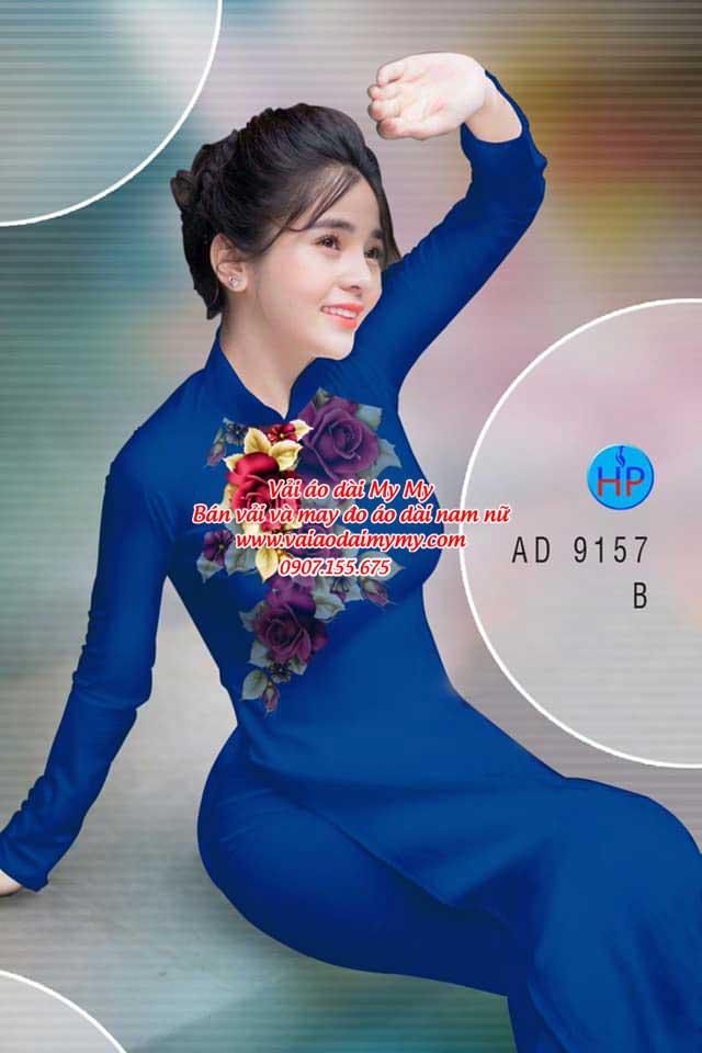 Vải áo dài Hoa Hồng 8/3 AD 9157 14