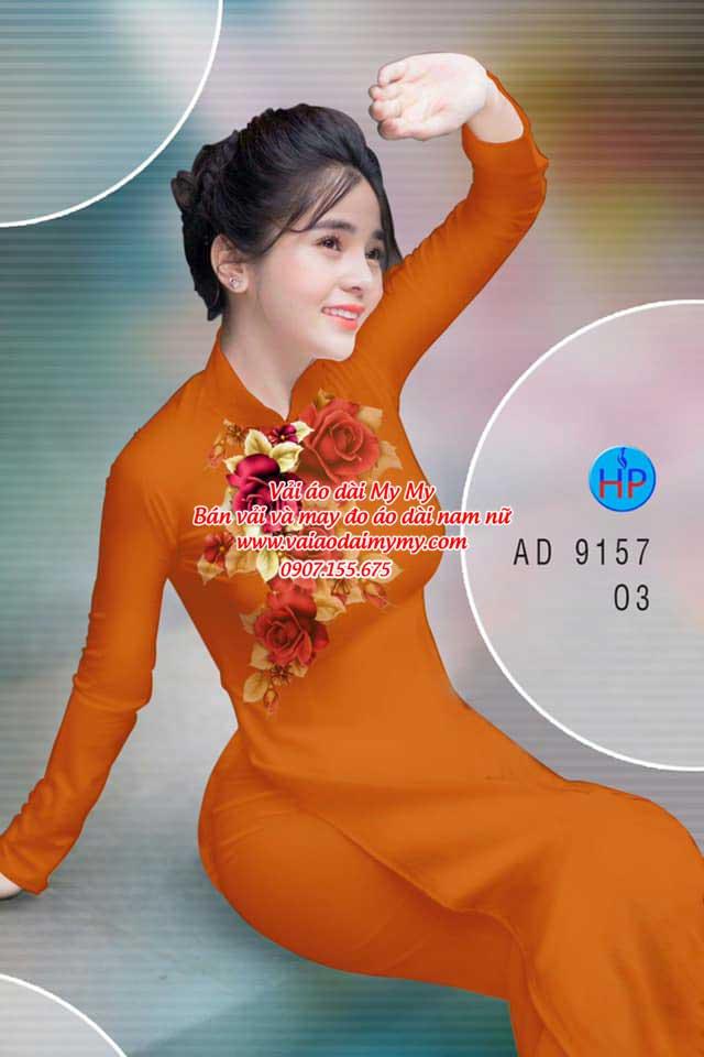 Vải áo dài Hoa Hồng 8/3 AD 9157 15