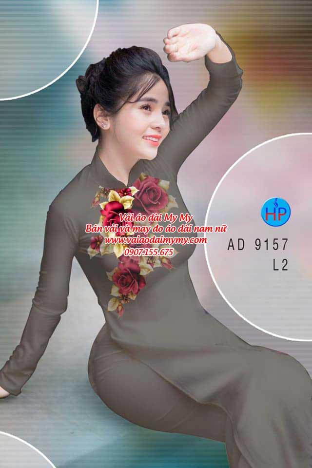 Vải áo dài Hoa Hồng 8/3 AD 9157 12