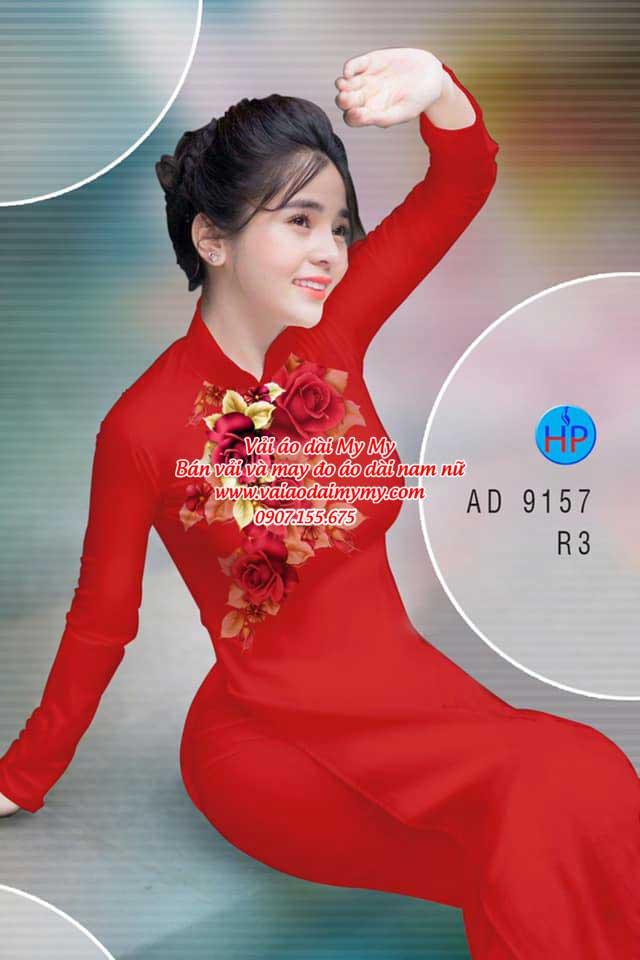 Vải áo dài Hoa Hồng 8/3 AD 9157 18