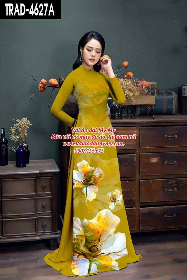 Vải áo dài hoa 3D AD TRAD 4627 1