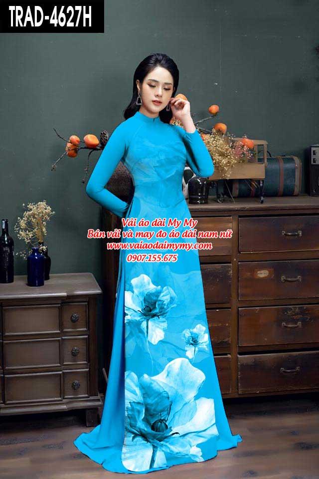 Vải áo dài hoa 3D AD TRAD 4627 8